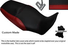 BLACK & DARK RED CUSTOM FITS HONDA XL 1000 V VARADERO 08-13 DUAL SEAT COVER
