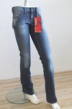 COLINS Jeans Hose »Chloe Str 741« Blue Flu Wash Boot Cut W27 L34 K703
