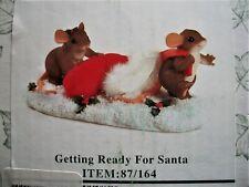 Nib Charming Tails Getting Ready For Santa #87/164 Fitz & Floyd