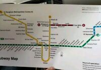 TTC Map Toronto Public Metro Subway Transit Map train stations print ON Canada