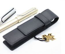 Senator ET150 Leather Pen Pouch Case - Single / Double - Black