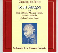 MFD IN FRANCE FRENCH FOLK 19977 CD LOUIS ARAGON : CHANSONS DE POETES : L FERRÉ
