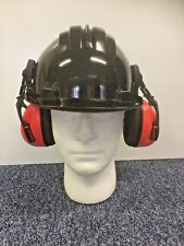 Climax Safety Helmet - Black c/w Climax - Ear defenders