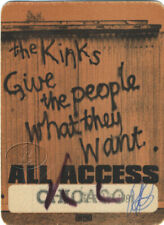THE KINKS 1981 BACKSTAGE PASS Chicago