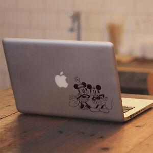 Disney Retro Mickey Minnie Vinyl Decal Sticker for Macbook Air Pro Laptop