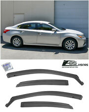 For 13-18 Nissan Altima In-Channel SMOKE TINTED Side Window Visors Deflectors