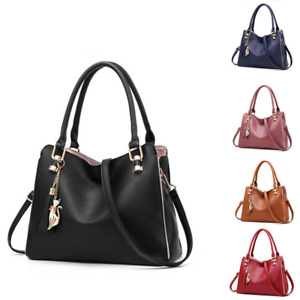 Women Lady Leather Shoulder Bag Handbags Messenger Crossbody Satchel Tote Purse