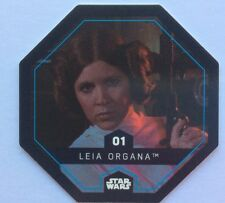 STAR WARS Jeton 01 LEIA ORGANA Cosmic Shells E.Leclerc Collector Image