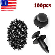 100pc Clips  Plastic Rivets Retainer Fender Bumper Fastener For Audi Volkswagen