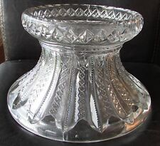 Beautiful Vintage Glass Punch Base - EUC! Maker Unknown