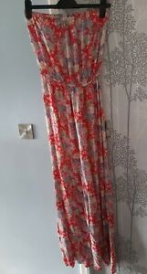 New Look Floral Strapless Maxi Dress Size 12 tall Worn once