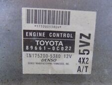 00 Toyota Tundra 3.4L 5VZ 4x2 AT ECU ECM PCM Engine Computer 89661-0C022