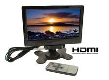 Monitor TFT LCD 7 Pollici HD con 3 Ingressi HDMI / RCA + AUDIO Telecamere Auto