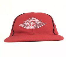 c2439c35313 Air Jordan Wings Logo 1984 Retro Red Baseball Cap Hat Fitted Size 7 1/2