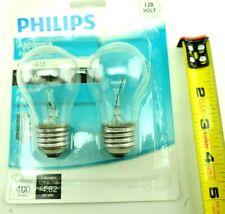 Lot of 4 Philips 40W 120V Clear Medium A15  Appliance light Bulb 2x2-Packs
