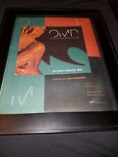 Omd Stand Above Me Rare Original Radio Promo Poster Ad Framed!