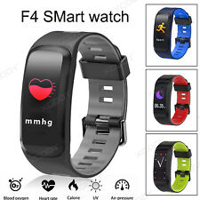 XGODY Red Smart Watch Blood Pressure Monitor Fitness Tracker Waterproof  PPG