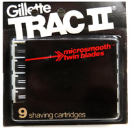 Gillette Trac II Razor Blade Refill Cartridges, 9 Count (Unboxed)