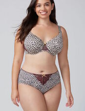 NEW Cacique Lane Bryant Charmer Hipster Panty w/ Lace Animal Print 18/20 Nylon