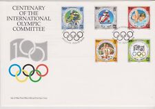 GB - ISLE of MAN 1994 The Olympic Games Centenary SG 621-625 FDC SPORTS SKIING