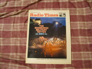 AUG 17 - 23, 1968 EDINBURGH MILITARY TATTOO COVER; TIME TUNNEL ARTICLE