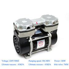 140W Oilless Vacuum Pump 220v with -83KPA Ultimate Pressure 30L/MIN Air Flow