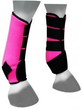 Showman PINK Neoprene Horse Sport Boots For Front or Hind Legs! NEW HORSE TACK!