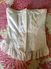 NWOT BETSEY JOHNSON WHITE LACE CORSET ENBROIDERED BUSTIER TOP SIZE S