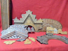 Group Of 5 Antique Kitchen Clock Tops & Other Case Components