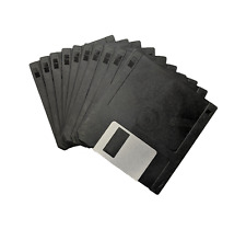 "10x New 3.5"" DD DS Unformatted Black Floppy Disks - Amiga Atari ST + Labels #671"