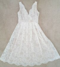 SOFIA SHORT LACE BRIDE DRESS FROM THE BHS WEDDING COLLECTION SIZE 10 BNWT