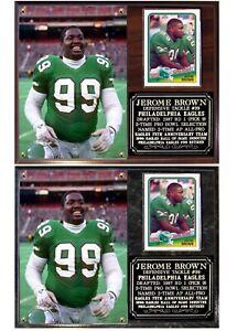 Jerome Brown #99 Philadelphia Eagles Photo Card Plaque
