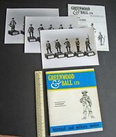Greenwood & Ball Catalogue Historical & Military Figures 1970s Vintage