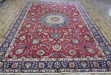 Impressive Persian Tabriz handmade floral carpet,with superb color 12 x 8 ft