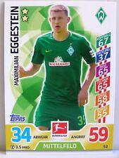 Match Attax 2017/18 Bundesliga - #052 Maximilian Eggestein - SV Werder Bremen
