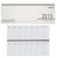 Stylex Schreibtisch Querkalender 2019 - 32 Blatt - 1Woche Pro Seite, Kalender