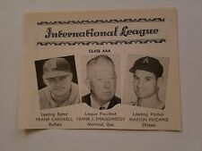 Frank Carswell Buffalo Bisons Marion Fricano Ottawa A's 1953 SNews Minor Panel