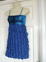 Fit size 8 blue sequin dress Sequin Womens Summer Sexy Smart Party Evening