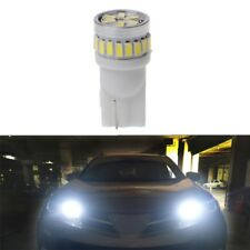 2xWhite Car T10 3014 24LED Bulb For Turn Side License Plate Lights Ultra Bright
