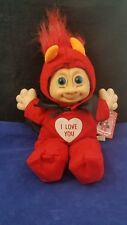 Russ Troll Kidz Red Hair Devil Horns Cape Doll Valentine I Love You Stuffed NWT