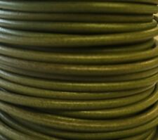 Pistachio Green Genuine Leather cord 4mm thickness x 1 metre excellent quality