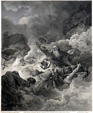 SHIPWRECK OF ST. PAUL 1794 William Byrne - Philip James de Loutherbourg ETCHING