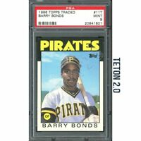 Barry Bonds RC Rookie PSA 9 Mint 1986 Topps Traded #11T Pirates Giants MVP HOF ?