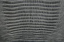 52 sf Gray  Lizard Print Cow Hide Leather Skin   T63f gi