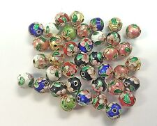 100  10mm  Handmade Mix Cloisonne Beads