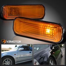 For 1996-2000 Honda Civic EK9 Dome Fender Side Marker Light Amber