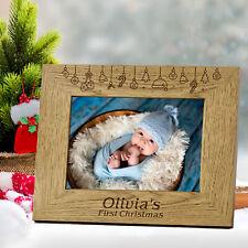 Personalised photo frame Christmas Gift for Friend Mum Baby Kids Grandad