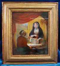 Orig. VAN EYCKEN,JB. 1809-1853 *Fischhändler* Öl/Holz,sign. Antique oil painting