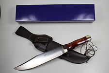 GERMAN LINDER DELUXE BOWIE COLLECTORS KNIFE WITH COCOBOLA HANDLE & 440A STEEL !!