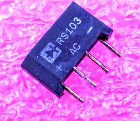 RS103 Single-Phase Glass Passivated Bridge Rectifier - Lot of 1, 5, or 10.